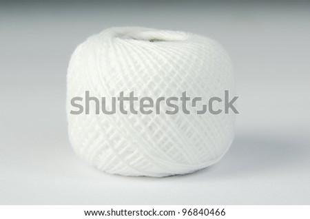 White spool of thread - stock photo
