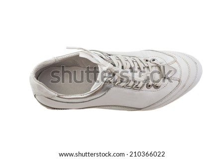 White Sport shoe isolated on white  - stock photo
