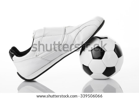 White sport shoes isolated on a white background