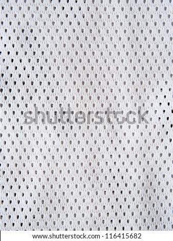 White sports jersey - stock photo