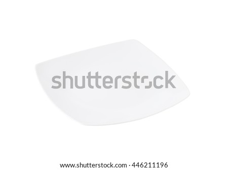 white square dinner plate without rim