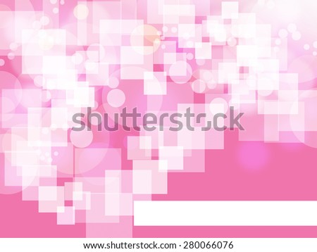 white square on pink background with blank white space below  - stock photo