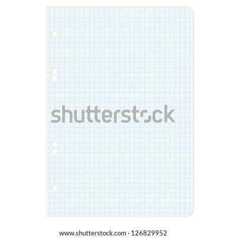 White squared blank white paper sheet.  illustration. - stock photo