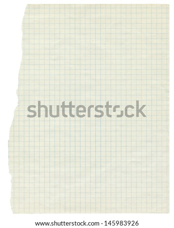 White squared paper sheet background ,textured background, paper background, school exercise book