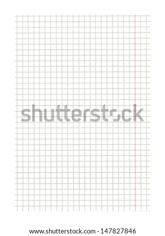 White squared paper sheet texture as background