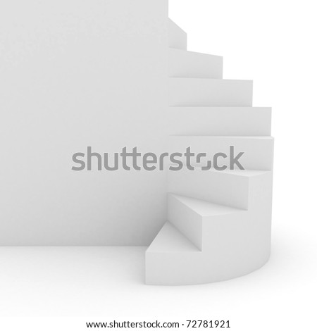 White stair over background. computer generated image - stock photo