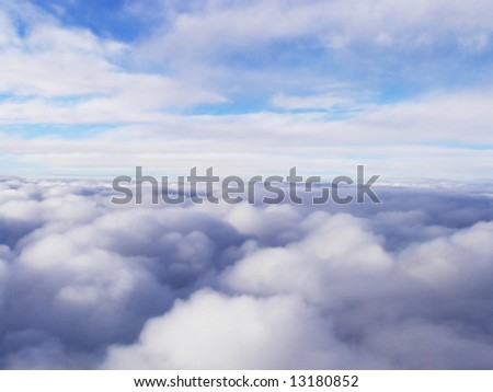 White stratosphere clouds high in the sky - stock photo