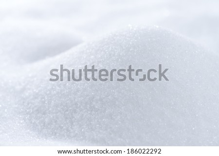 White Sugar (macro background image) - stock photo