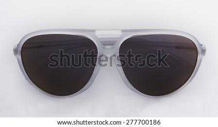 White sunglasses - stock photo