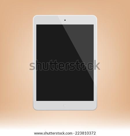 White Tablet Computer  Illustration Similar To iPad - stock photo