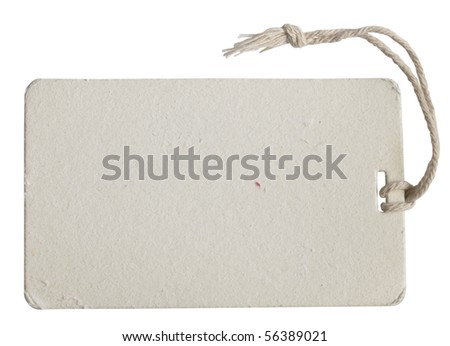 white tag - stock photo