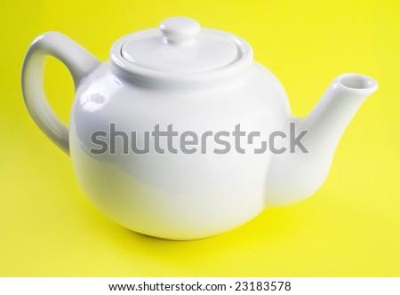 White tea-pot - stock photo