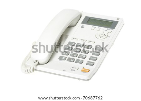 white telephone
