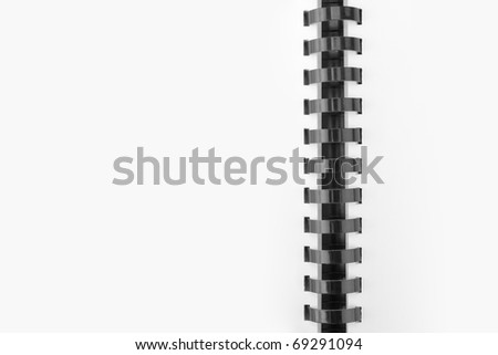White template with black binder. In B/W - stock photo