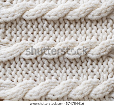 white texture knit fabric