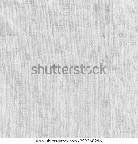 White texture with delicate striped pattern. Natural cotton canvas background. - stock photo