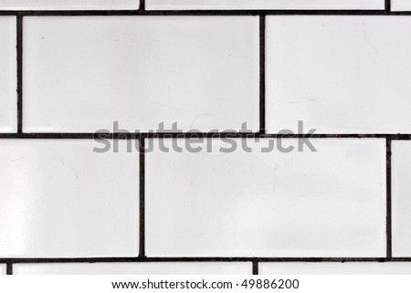 white textured tile the floor - stock photo