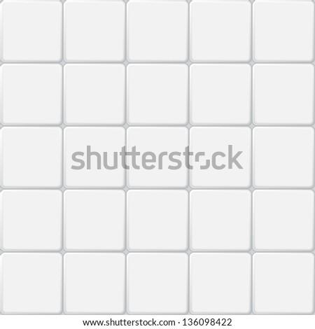 white tile seamless pattern - stock photo