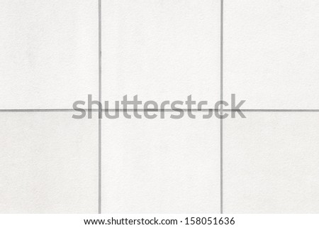 white tile wall texture, seamless - stock photo