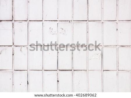 White tiles background, seamless  - stock photo