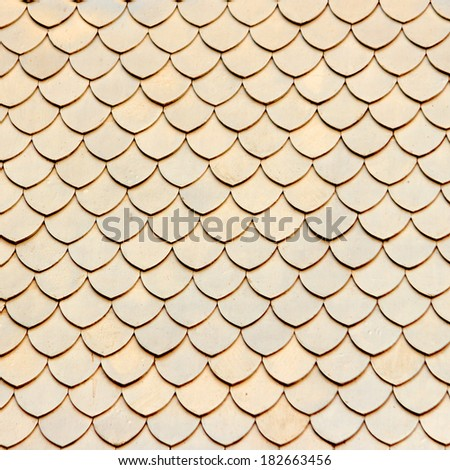 white tiles roof background - stock photo