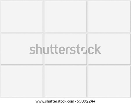 White tiles wall and floor texture - stock photo