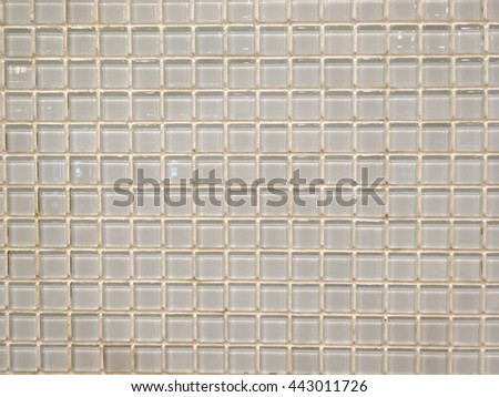 White tiles wall decoration texture and background.