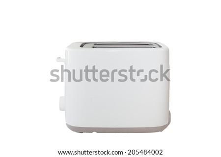 White Toaster in white Isolated background - stock photo