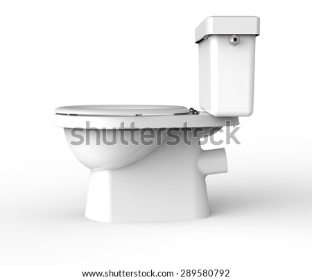 white toilet isolated on a white back ground.