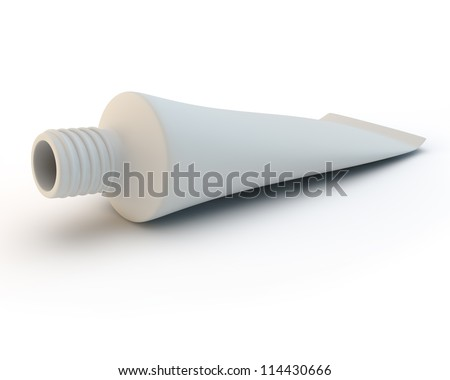 white toothpaste tube