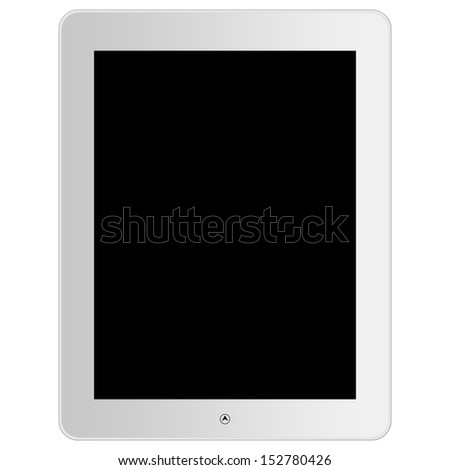 White Touch Screen Tablet in ipade style