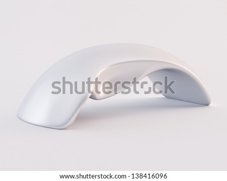 White touch sensitive mouse - stock photo