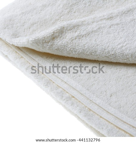 white towel macro on white background