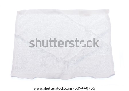 white towel on white background