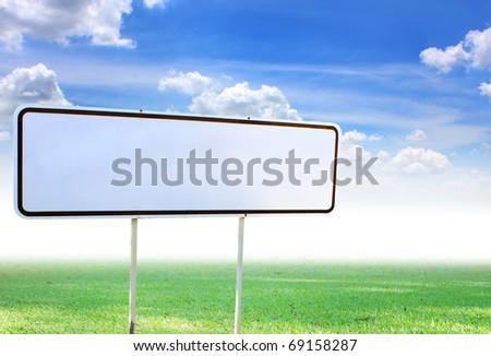 White traffic sign - stock photo