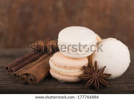 White truffle macaroons  - stock photo