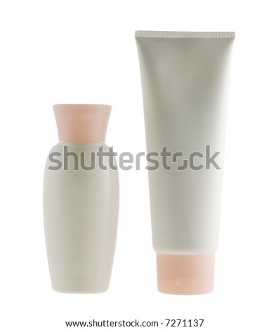 White tubes of a cream with pink covers