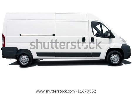 White van - stock photo