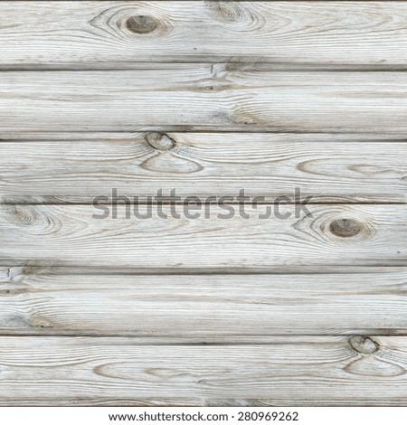 white vintage background, wood texture, seamless pattern - stock photo
