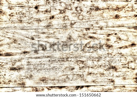 White Vintage Wood Background - old distressed grainy wooden plank. - stock photo