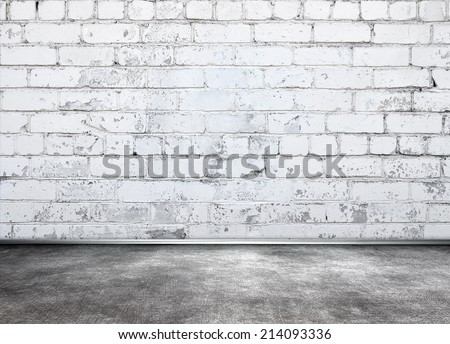 White wall room - stock photo