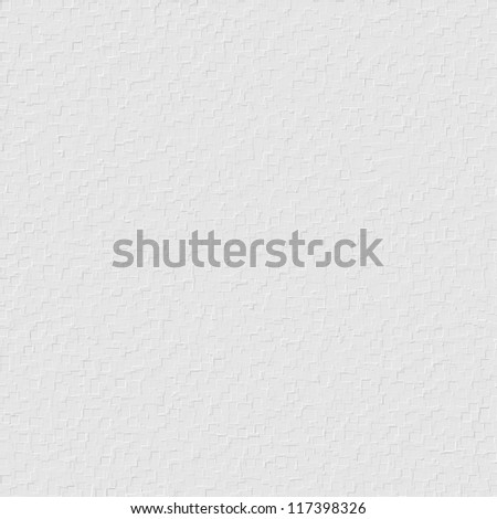 white wall texture background with delicate 3d cubes mosaic tiles pattern - stock photo
