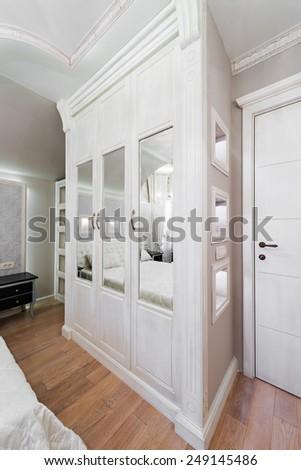 White wardrobe - stock photo