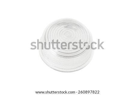 white warning light isolated on white  - stock photo
