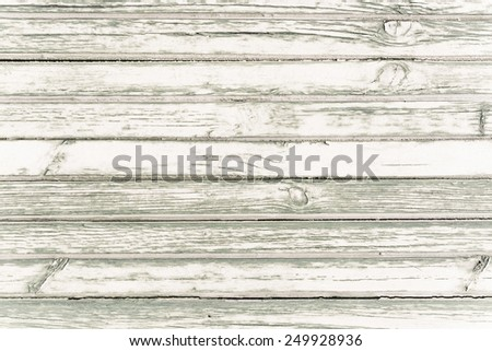 White washed painted wood plank background texture, horizontal image. - stock photo