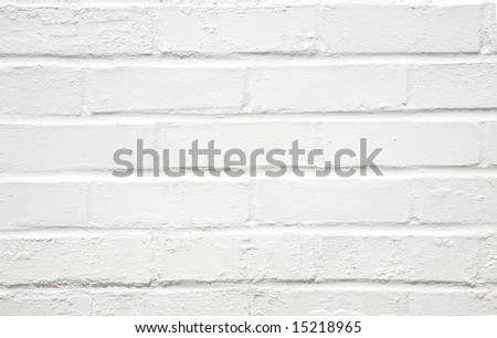 white washed wall - stock photo