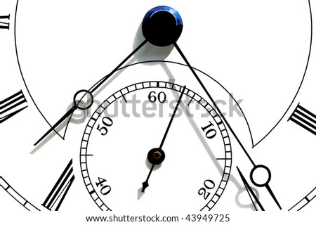 White watch face with hour, minute and second hands, useful as background. - stock photo