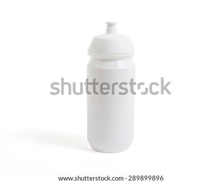 White water bottle isolated on white background - stock photo