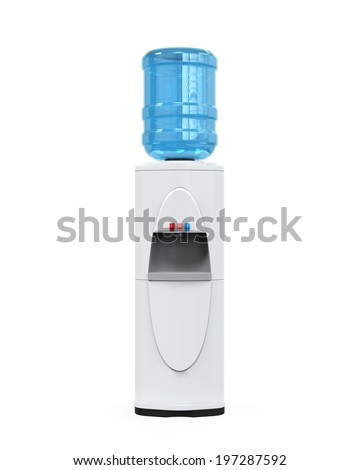 White Water Cooler - stock photo