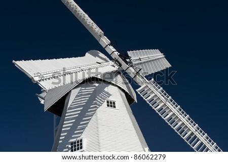white wind mill - stock photo